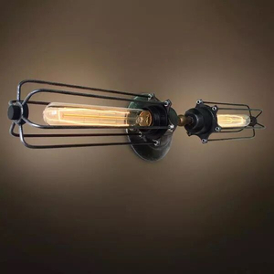 Retro Vintage Edison Bulbs Industrial Iron Wire Cage wall sconces