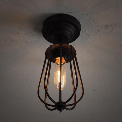 Retro rustic industrial style iron ceiling light for loft lighting