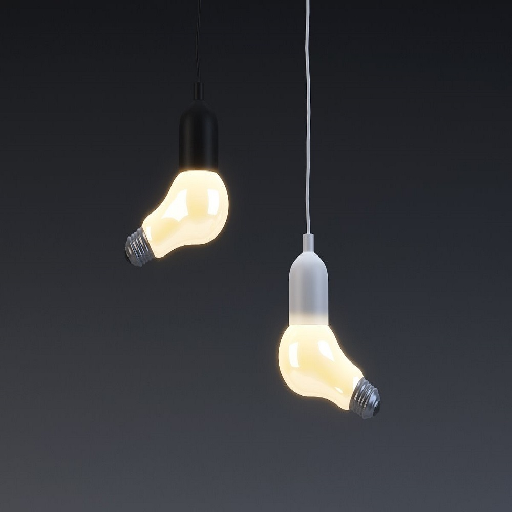 LED Pendant Lamp Colorful with Metal+Glass Hanging Light