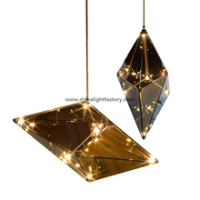 Maxhedron suspension lighting glass chandelier for hotel project (72156)