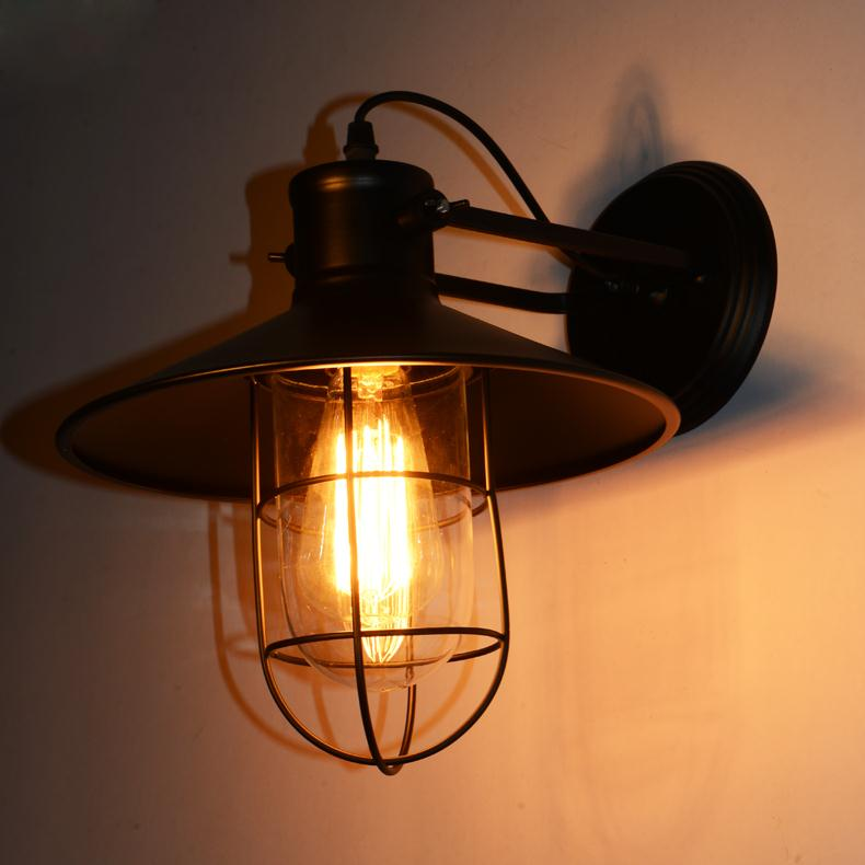 Vintage Wall Sconce Industrial Wall Lamps Wrought Iron Lamp