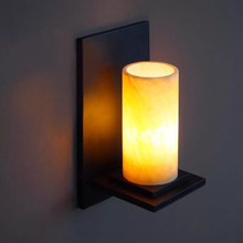 Retro-rustic style marble sconce wall for warehouse corridor lighting