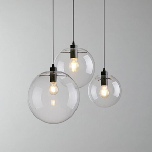 Contemporary Hand Blown Glass Hanging Lamp Round Indoor Pendant Light Modern (3040101)