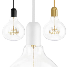 Mini King Chandelier inside glass bulb Makes for One Unusual Pendant Lamp (5069611)