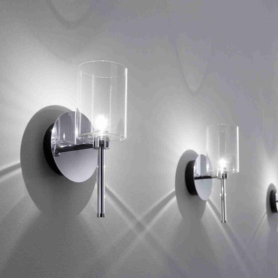 Simple Modern Wall LampTransparent Glass Battle Wall Socket