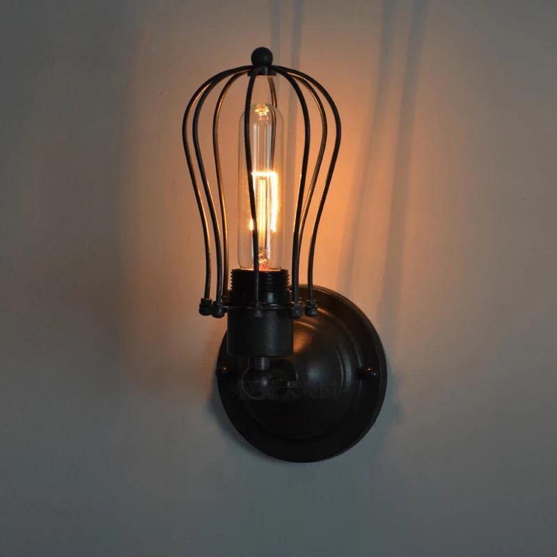 Retro rustic industrial style loft wall sconce