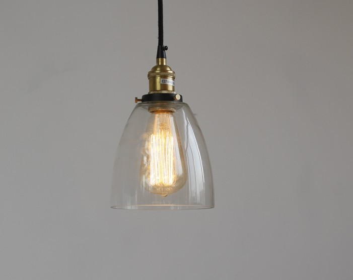 Vintage Glass Pendant Light for Kitchen Dining Room