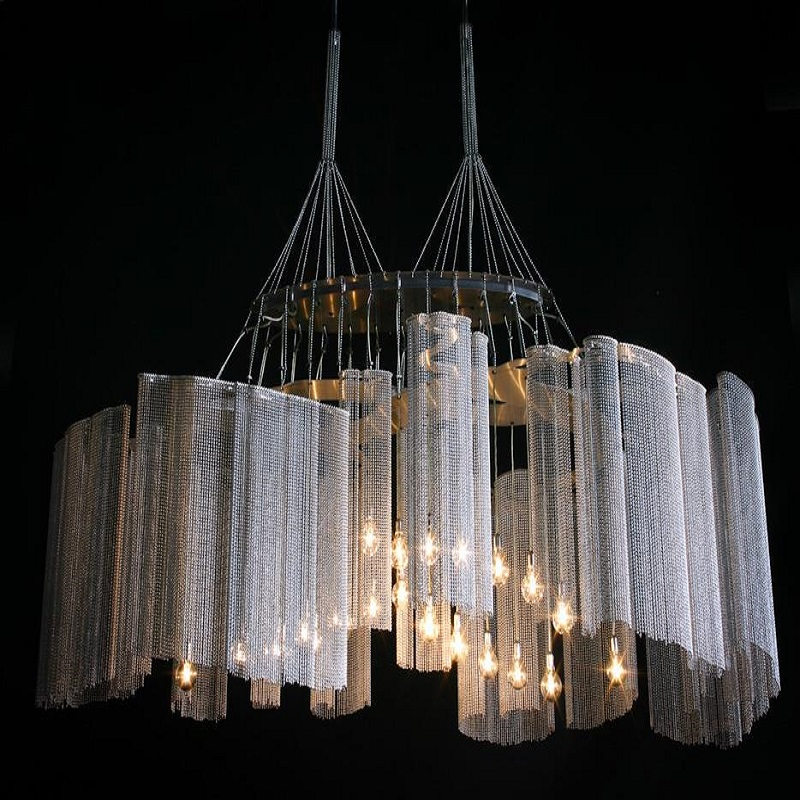New Design 2016 Modern Stainless steel Color Chandelier for Indoor Decoration