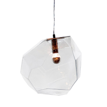 E27 Transparent Glass Asteroid Pendant Lights Unique Shape for Resturant Decorative