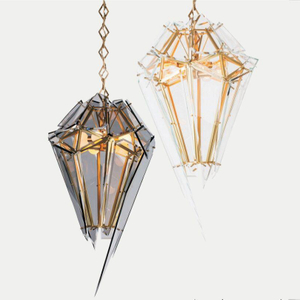 Modern stylish Edged Glass Pendant Chandelier 5419604