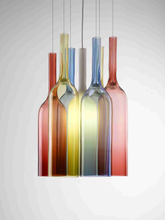 Contemporary Hanging Lighting Hand Blown Color Glass Beer Bottle Pendant Lamp for Bar (5025107)