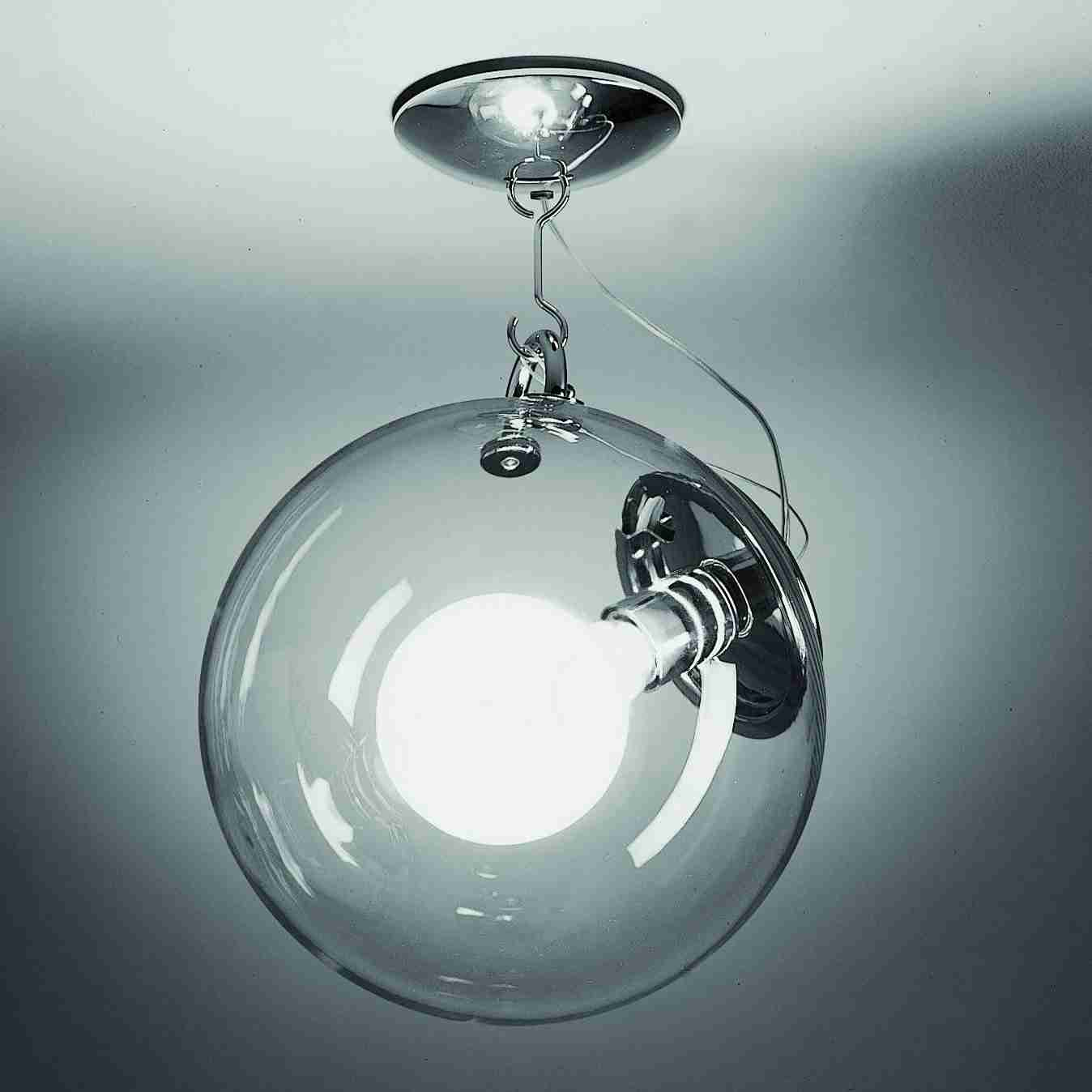 Transparent glass ball suspension light with modern design