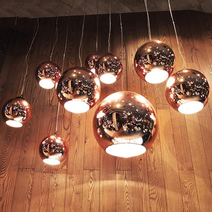 Tom Dixon Copper ball pendant lamp -4026101- (5)