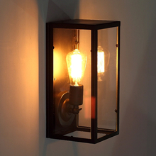 Antique wall sconce art decor with edison bulb wall light