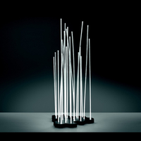 LED Reeds Triple Outdoor Floor Lamps with Aluminum Acrylic Material for Gardens