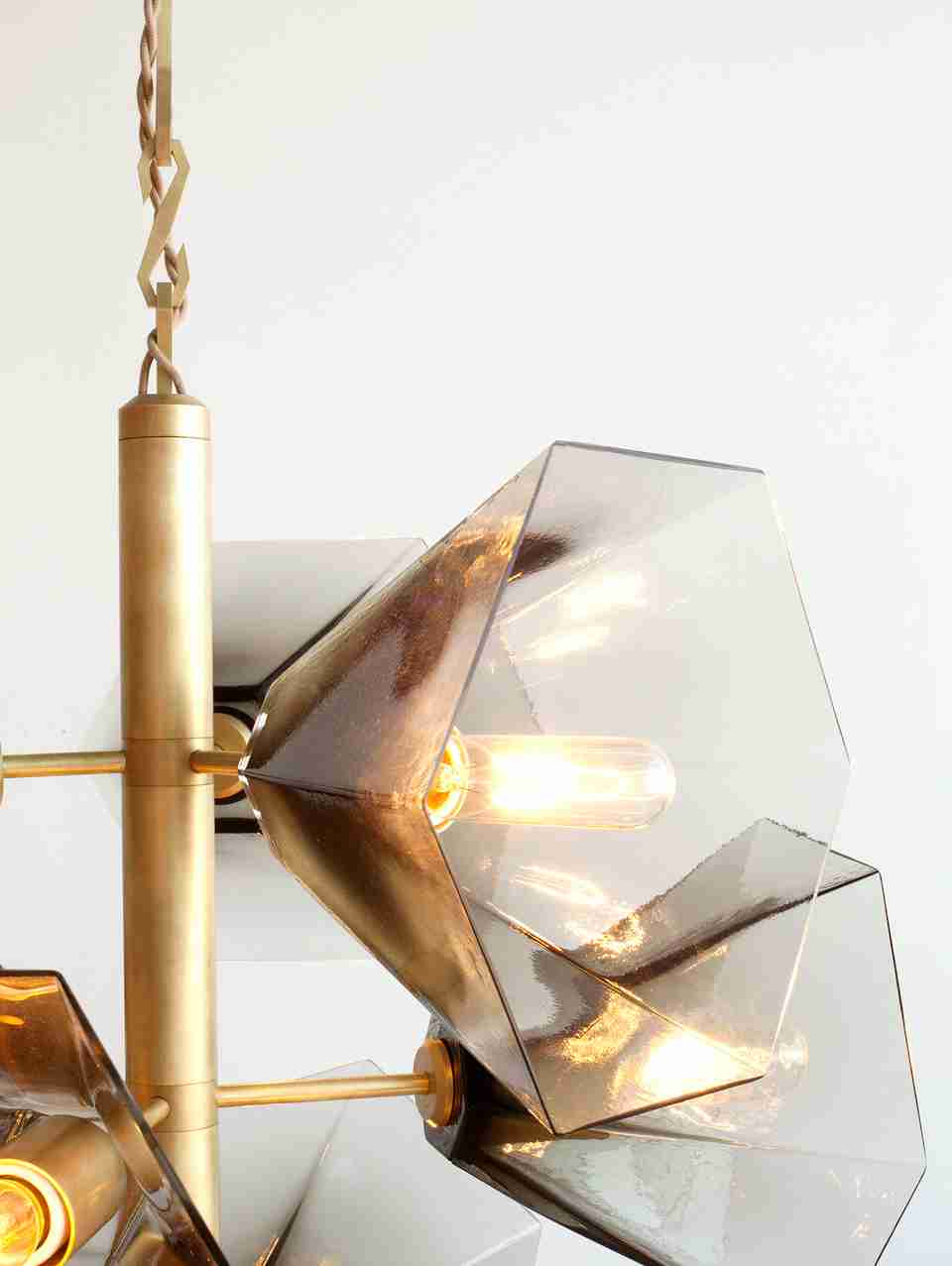 Glass Cup Shaped Light Cover 9 Lamp Holder Chandelier