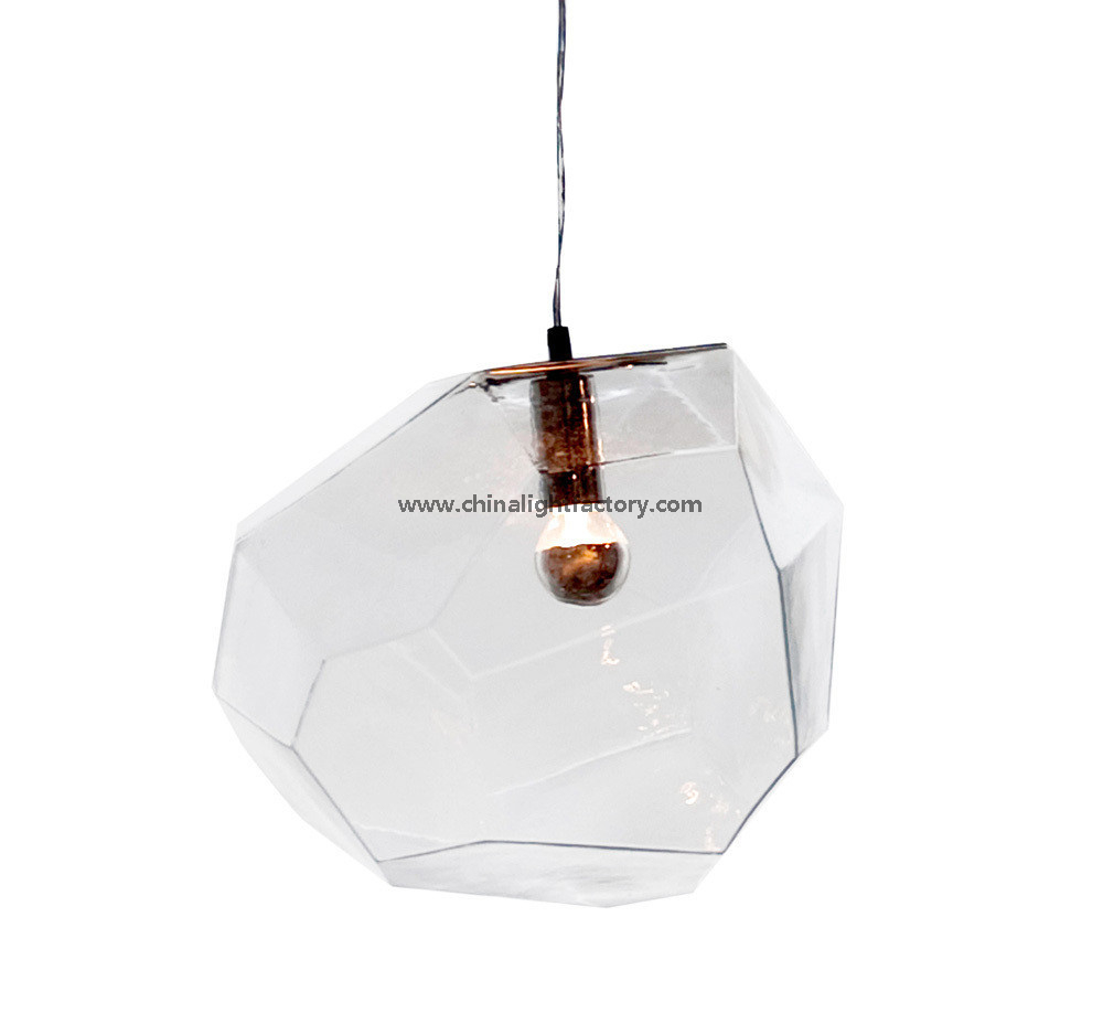 Hanging Light with Transparent Glass Pendant Lamps for Hotel